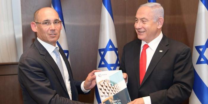 """הנשיא, ראש הממשלה ושר האוצר קיבלו את דו""""ח בנק ישראל"""